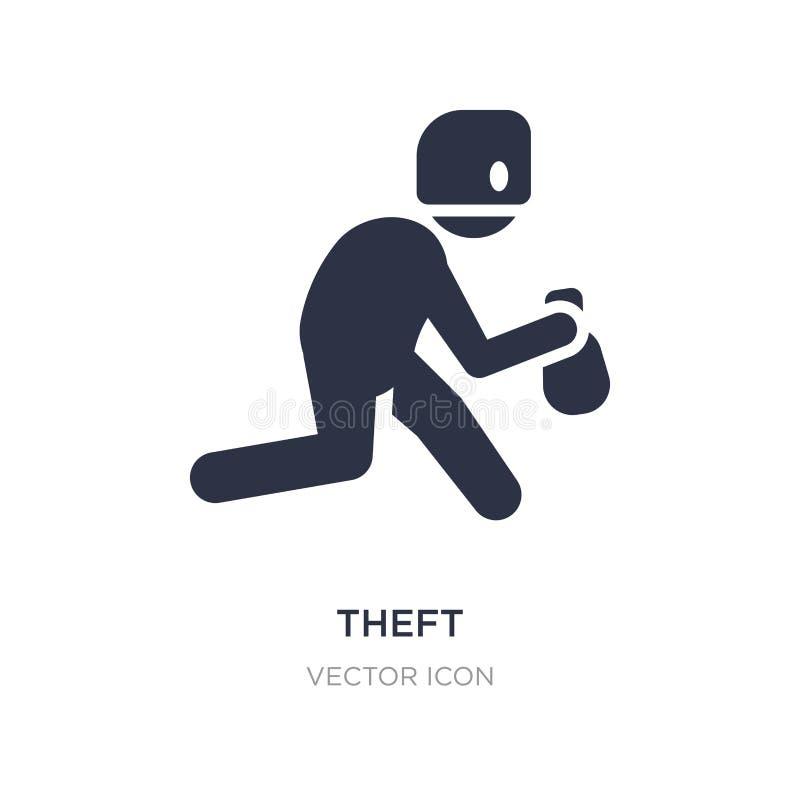 icône de vol sur le fond blanc Illustration simple d'élément de concept de Cyber illustration libre de droits