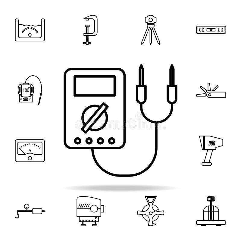 Icône de voltmètre Ensemble universel d'icônes d'instruments de mesure pour le Web et le mobile illustration libre de droits
