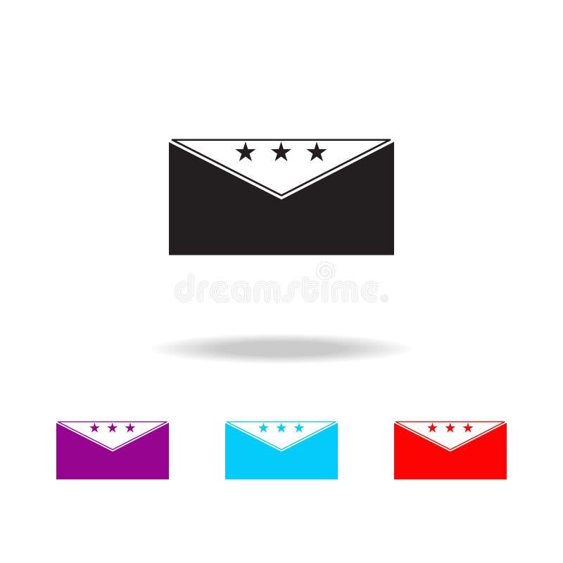 Icône de vote d'enveloppe Éléments d'élection dans les icônes colorées multi Icône de la meilleure qualité de conception graphiqu illustration de vecteur