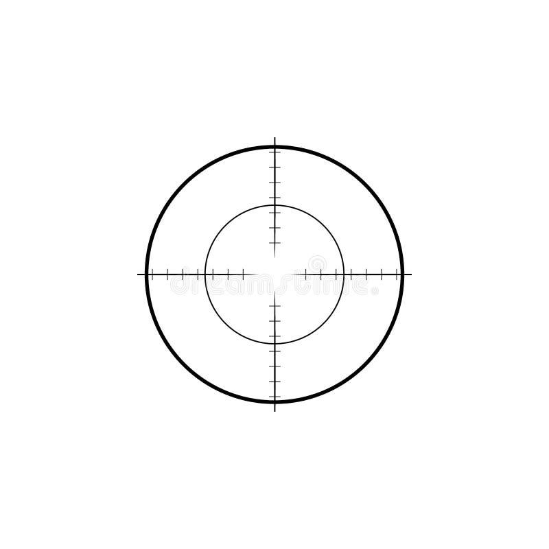 Icône de vue de collimateur Réticules militaires de cible de fusil de tireur isolé illustration stock