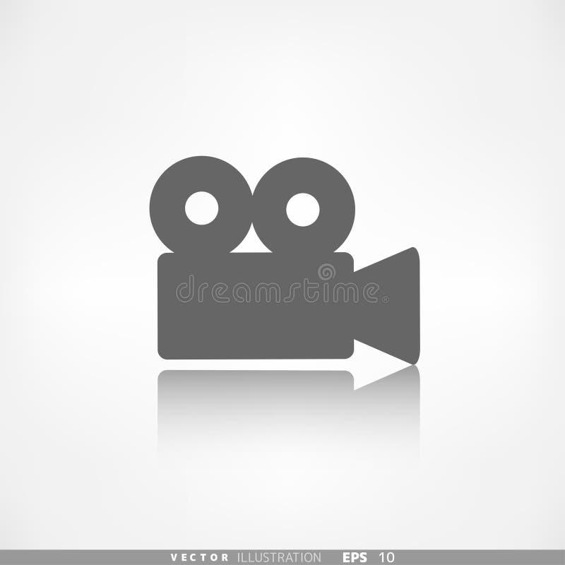 Icône de Web de caméra vidéo Symbole de media illustration de vecteur