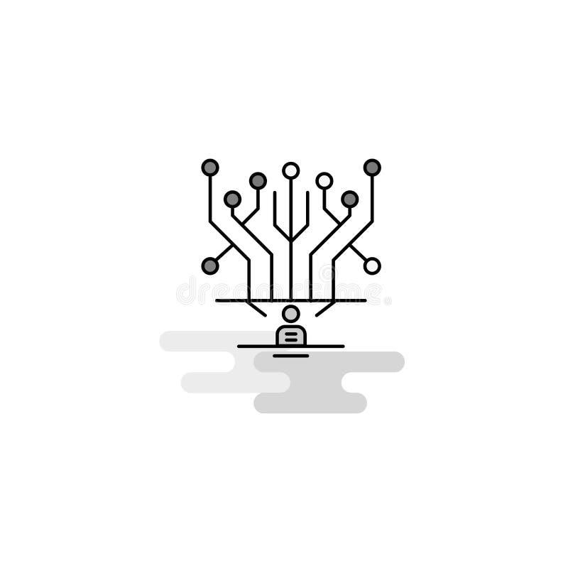 Icône de Web de circuit La ligne plate a rempli Gray Icon Vector illustration libre de droits