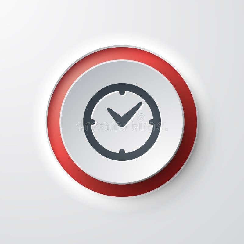Icône de Web d'horloge illustration libre de droits