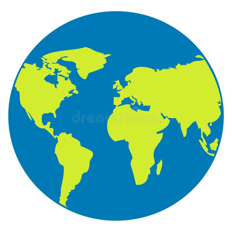Icône de Web de globe sur le blanc Symbole de planète Conception plate d'icône de vecteur illustration libre de droits