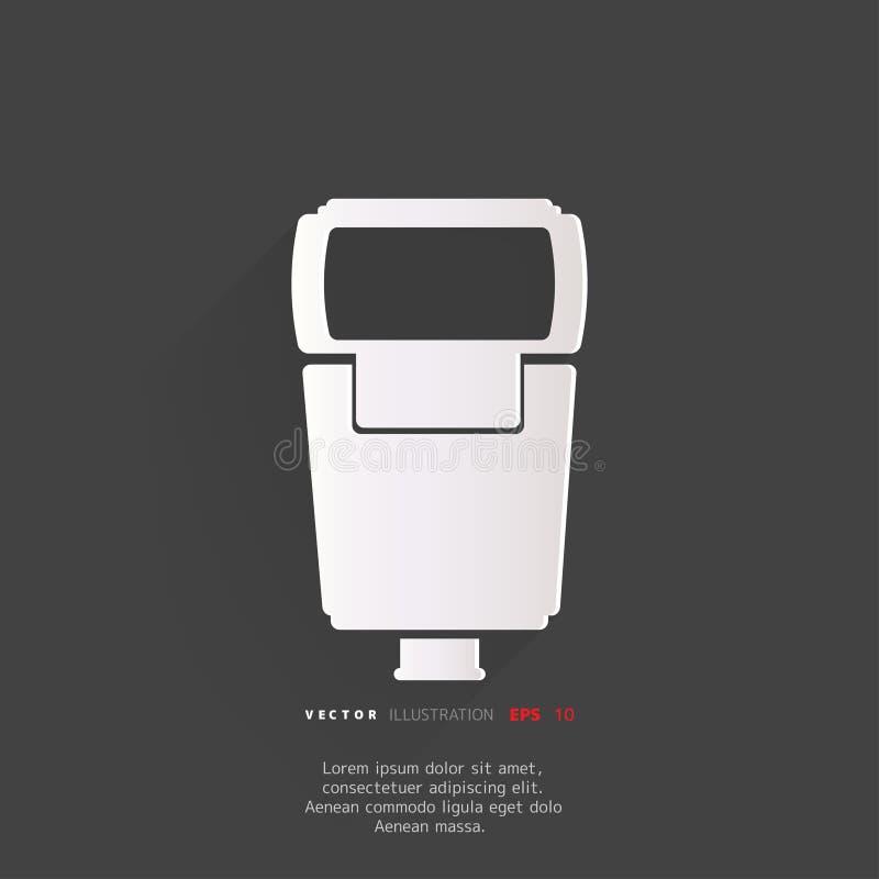 Icône de Web de lampe-torche de caméra de photo illustration libre de droits