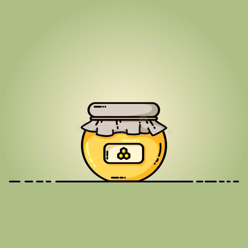 Icône de Web de pot de miel Illustration de vecteur dans le style plat illustration de vecteur