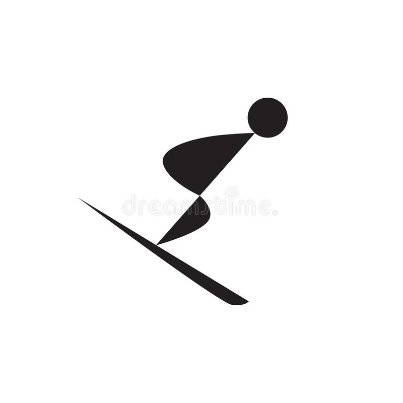 Icône de Web de skieur ou de surfeur illustration libre de droits
