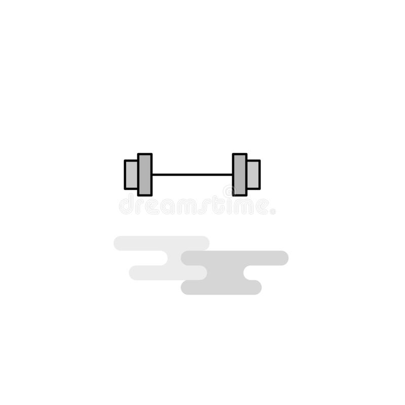 Icône de Web de tige de gymnase La ligne plate a rempli Gray Icon Vector illustration stock