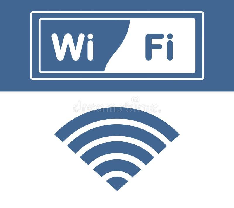 Icône de Wifi, label de wifi, mot de wifi photographie stock libre de droits