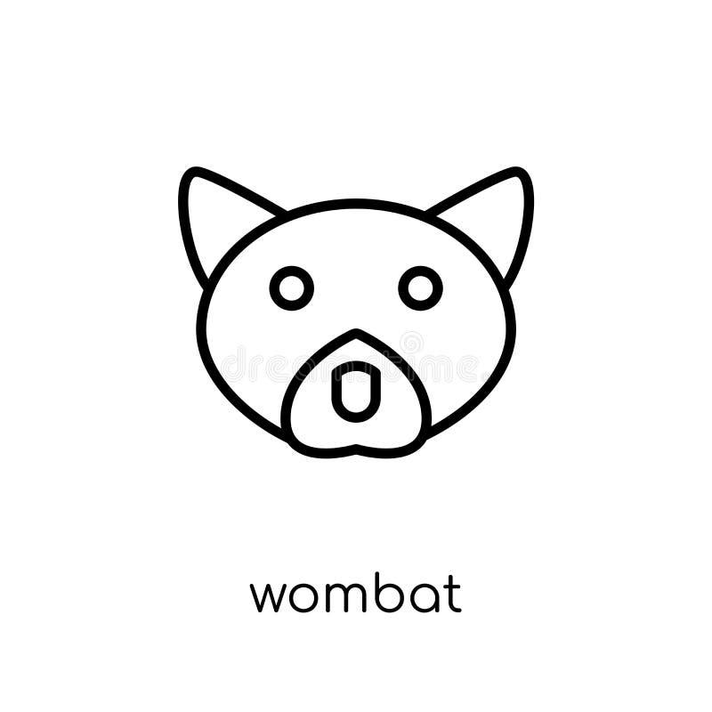 Icône de wombat Icône linéaire plate moderne à la mode de wombat de vecteur sur le whi illustration de vecteur