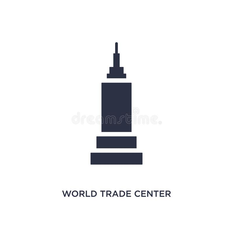 icône de World Trade Center sur le fond blanc Illustration simple d'élément de concept de bâtiments illustration stock