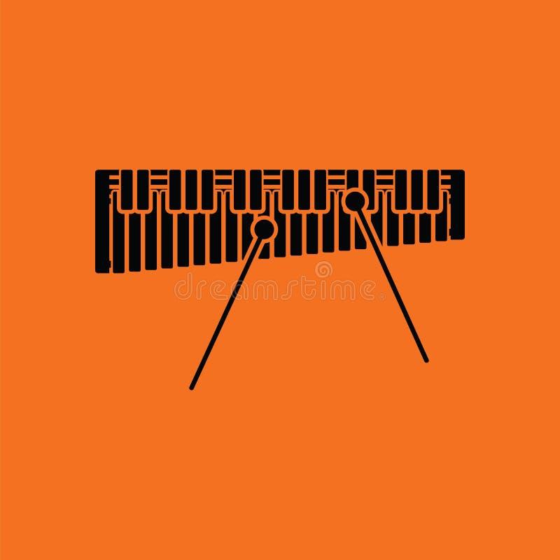 Icône de xylophone illustration libre de droits