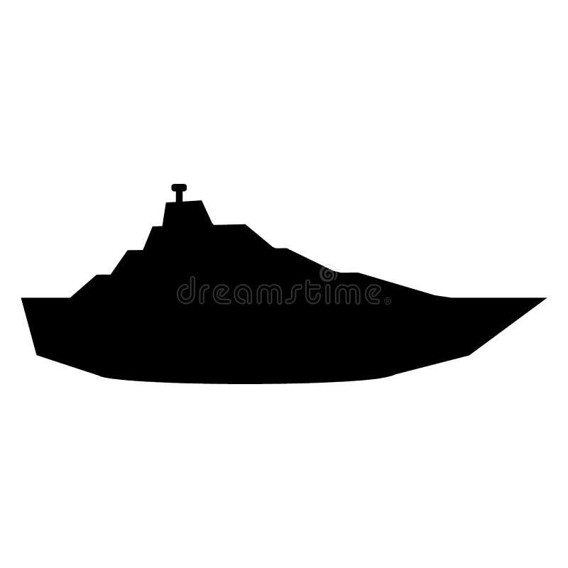 Icône de yacht sur le blanc illustration stock