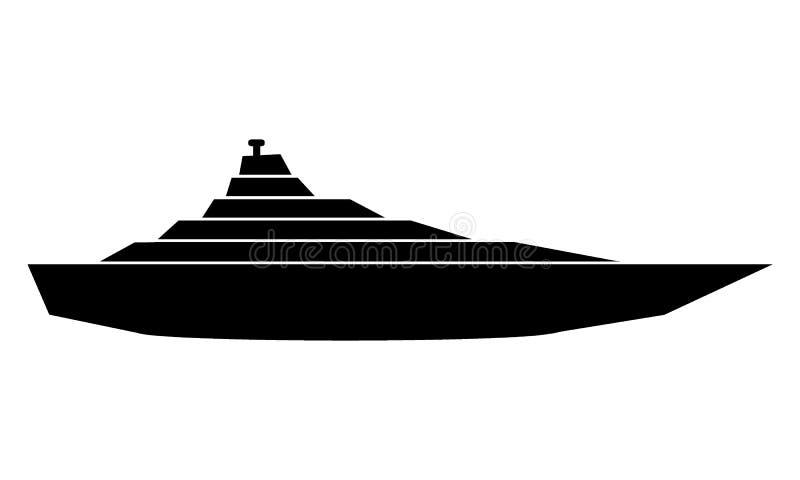 Icône de yacht sur le blanc illustration libre de droits