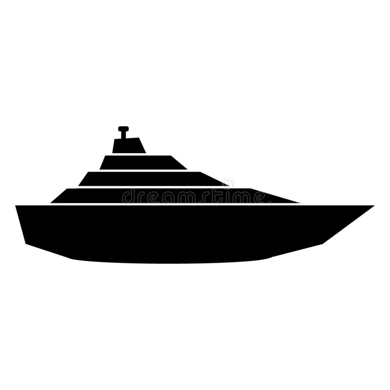 Icône de yacht sur le blanc illustration de vecteur