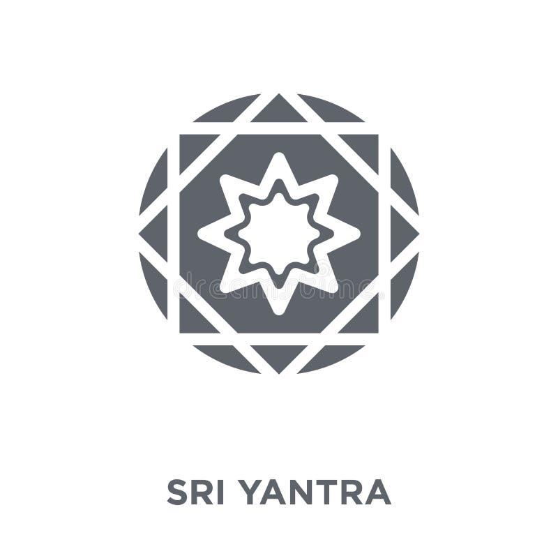 Icône de yantra de Sri de collection de la géométrie illustration stock