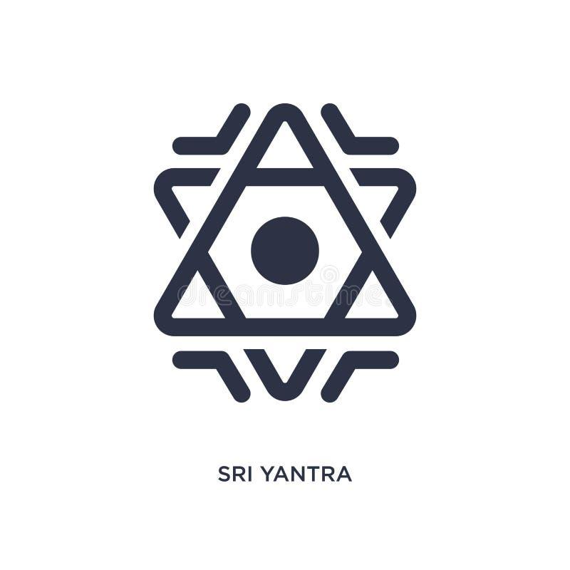 icône de yantra de sri sur le fond blanc Illustration simple d'élément de concept de la géométrie illustration libre de droits