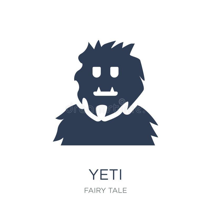 Icône de yeti Icône plate à la mode de yeti de vecteur sur le fond blanc de illustration de vecteur