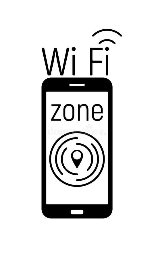 Icône de zone de Wi-Fi illustration libre de droits