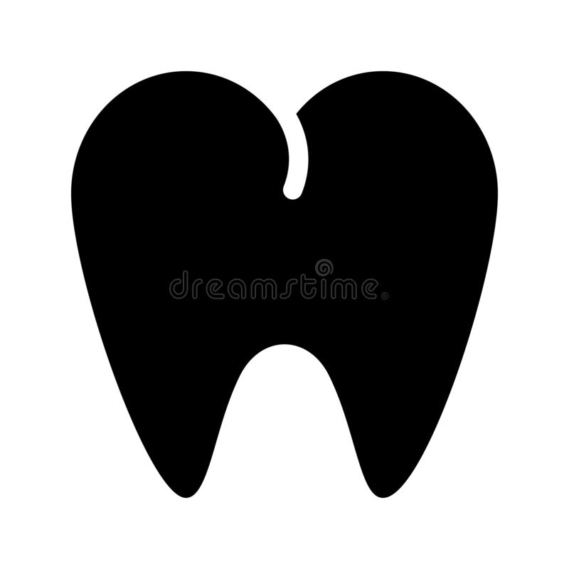 Icône dentaire de glyph illustration libre de droits