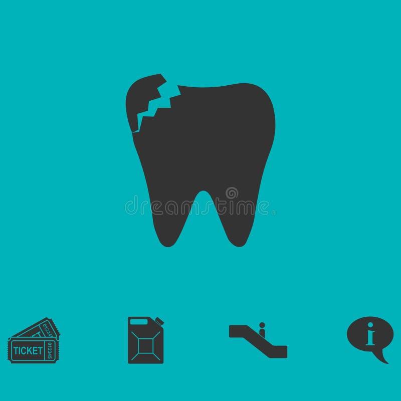 Icône dentaire de problème à plat illustration libre de droits