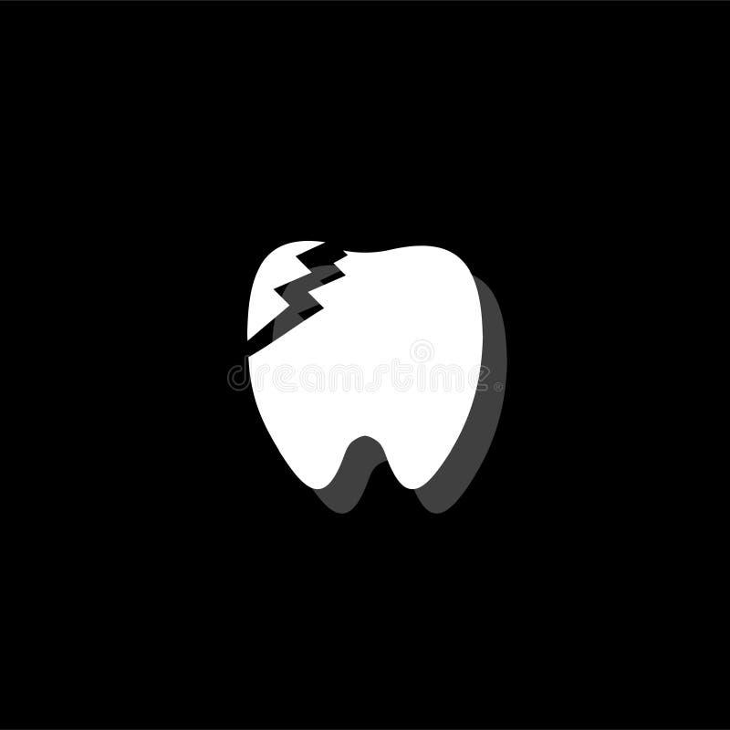 Icône dentaire de problème à plat illustration stock