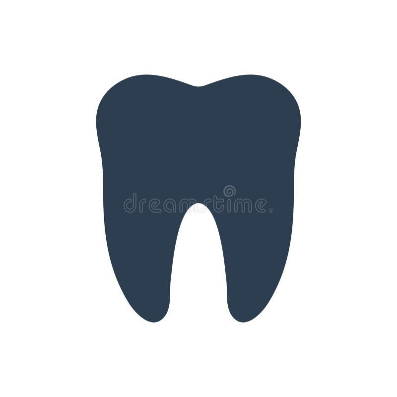 Icône dentaire de vecteur illustration stock