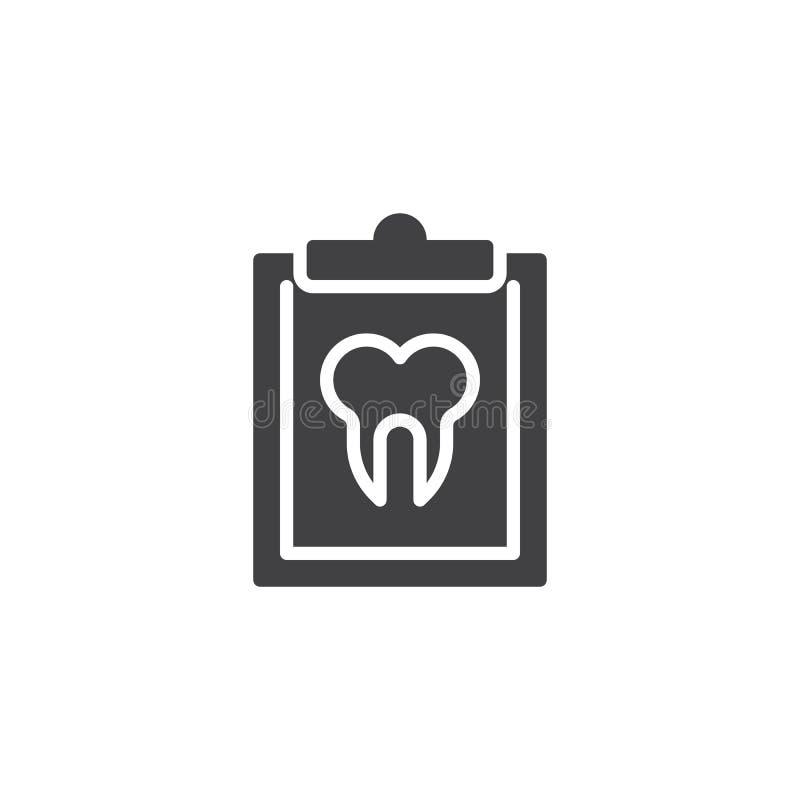 Icône dentaire de vecteur de carte illustration de vecteur