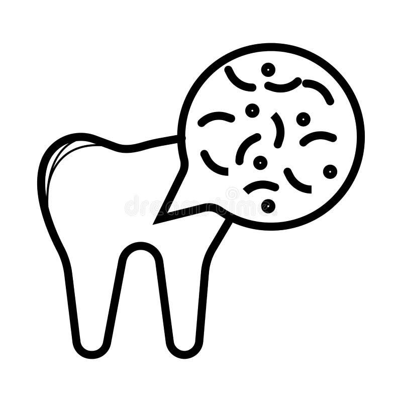 Icône dentaire médicale illustration stock