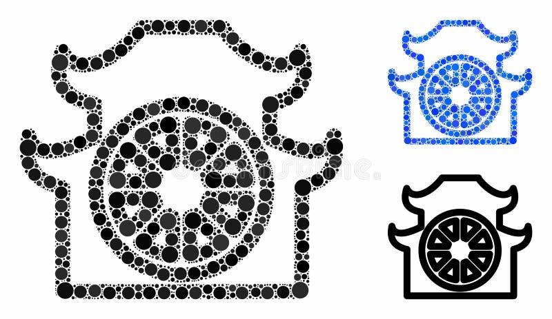 Icône des cercles de la composition de la pagode illustration libre de droits