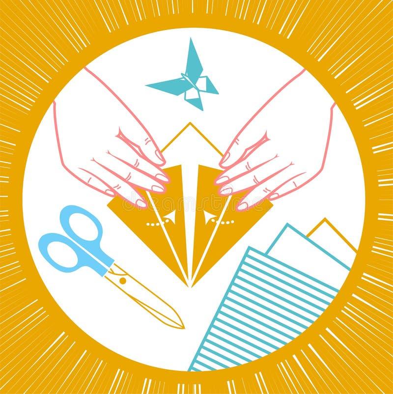 Icône des enfants d'origami illustration libre de droits