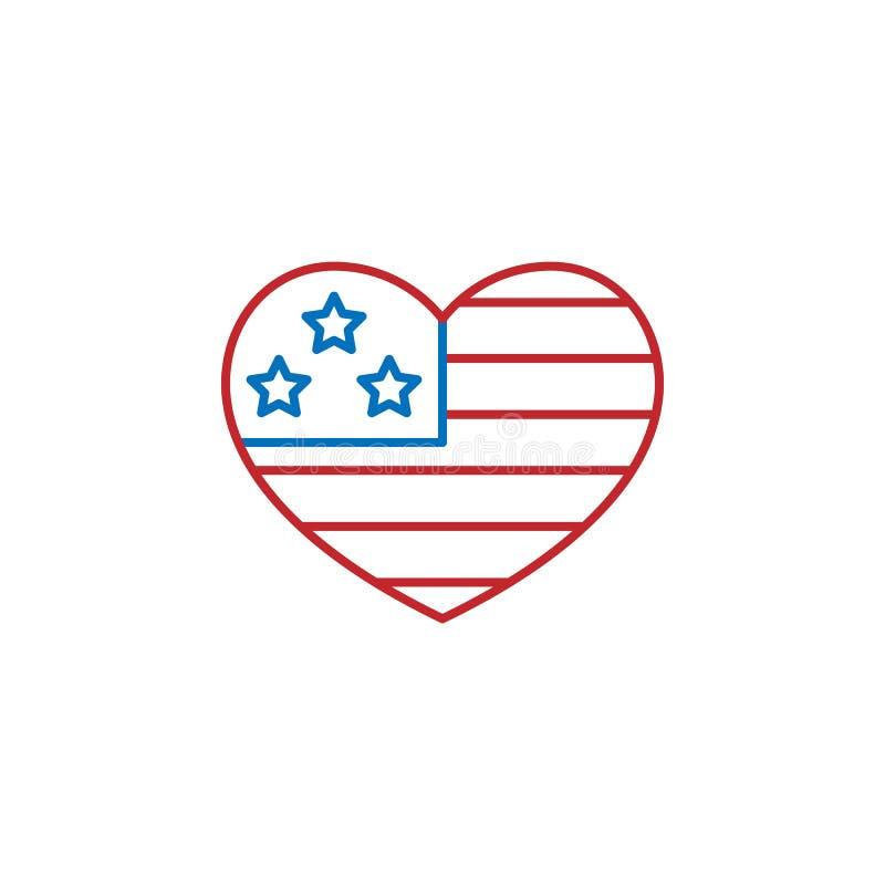 Icône des Etats-Unis, Amérique ?l?ment d'ic?ne de culture des Etats-Unis Ligne mince ic?ne pour la conception de site Web et le d illustration de vecteur