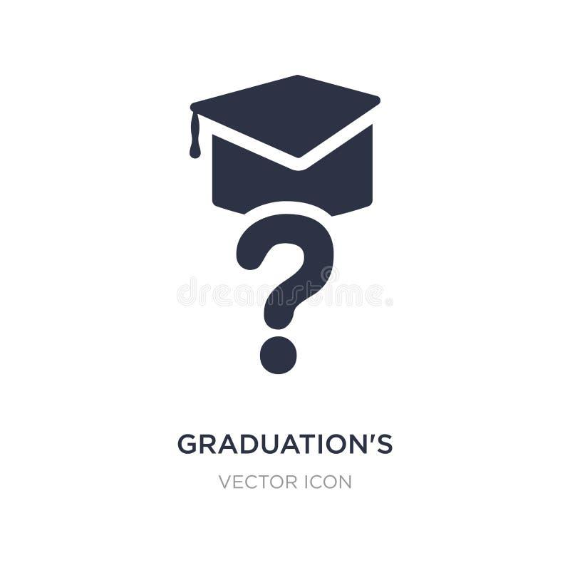 icône des questions de l'obtention du diplôme sur le fond blanc Illustration simple d'élément de l'autre concept illustration de vecteur