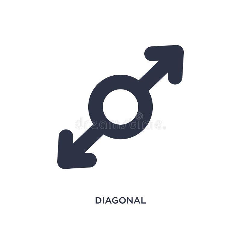icône diagonale sur le fond blanc Illustration simple d'élément de concept des flèches 2 illustration libre de droits