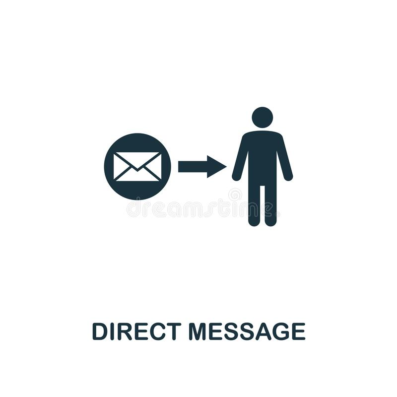 icône directe de message Conception de la meilleure qualité de style d'annoncer la collection d'icône UI et UX Icône directe parf illustration libre de droits