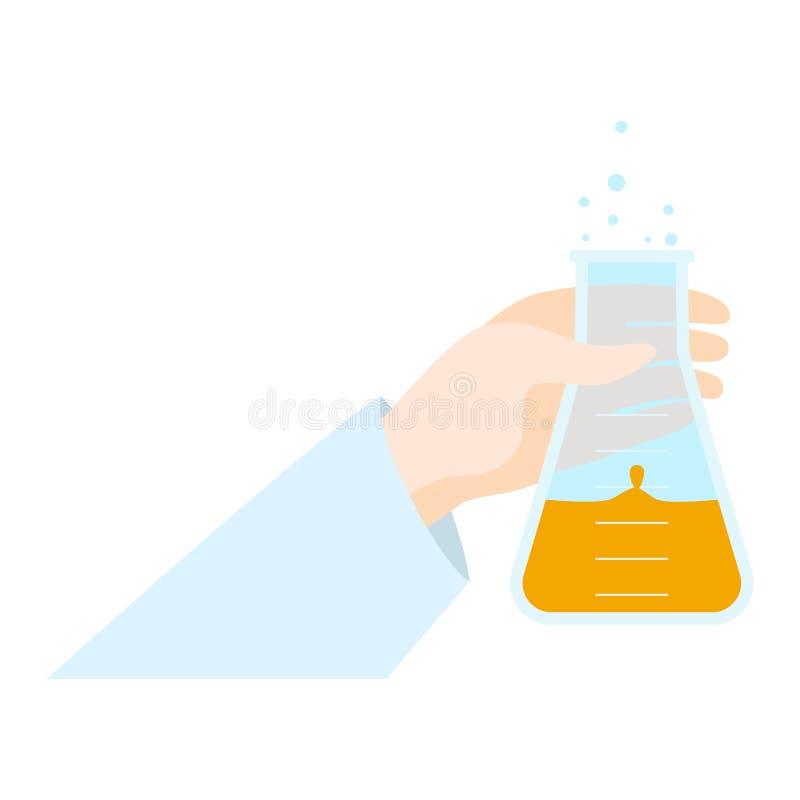 Icône disponible de ébullition de flacon, style plat illustration libre de droits