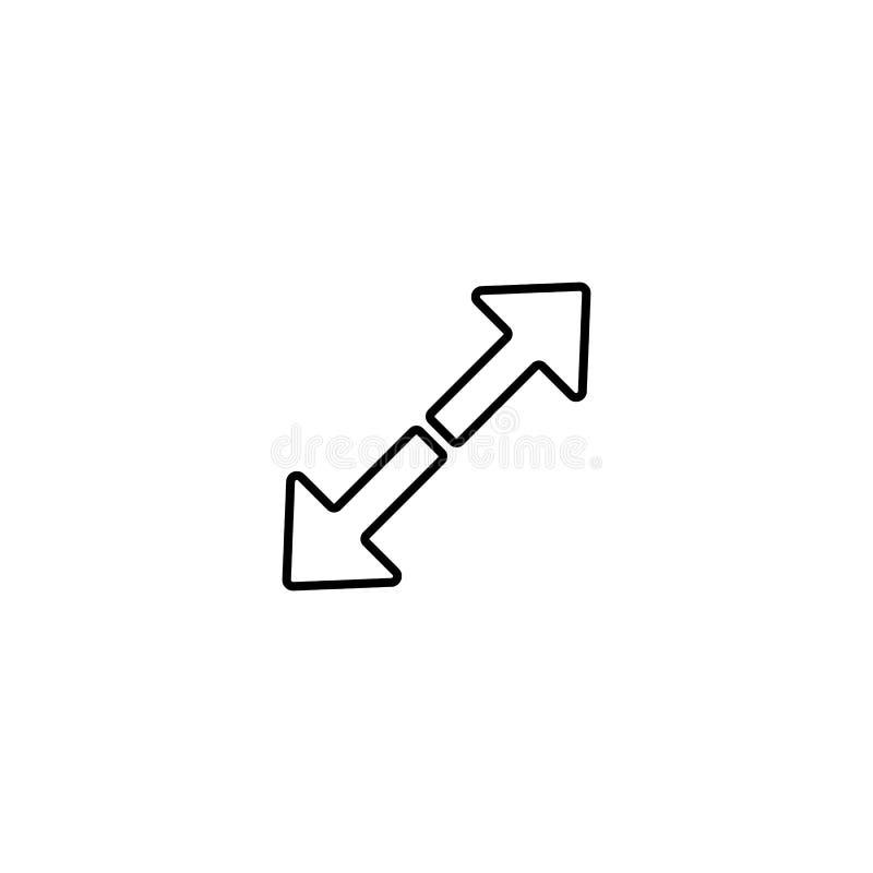 icône divergente de flèches Élément d'icône simple pour des sites Web, web design, APP mobile, graphiques d'infos Ligne mince icô illustration de vecteur