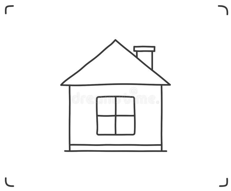 Icône Doodle House illustration libre de droits