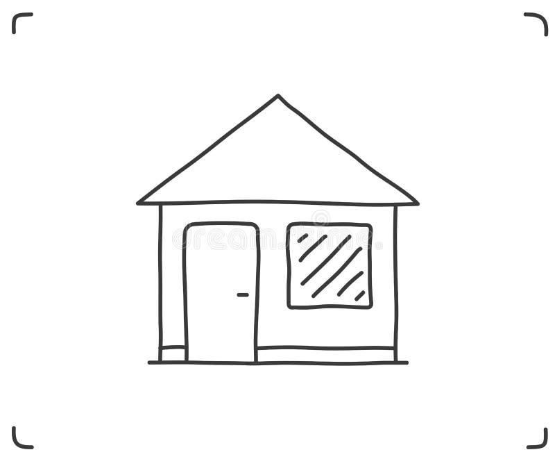 Icône Doodle House illustration stock