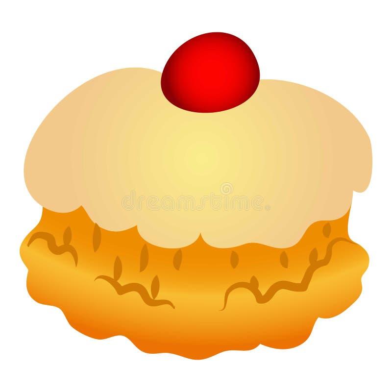 Icône douce de boulangerie, style de bande dessinée illustration stock