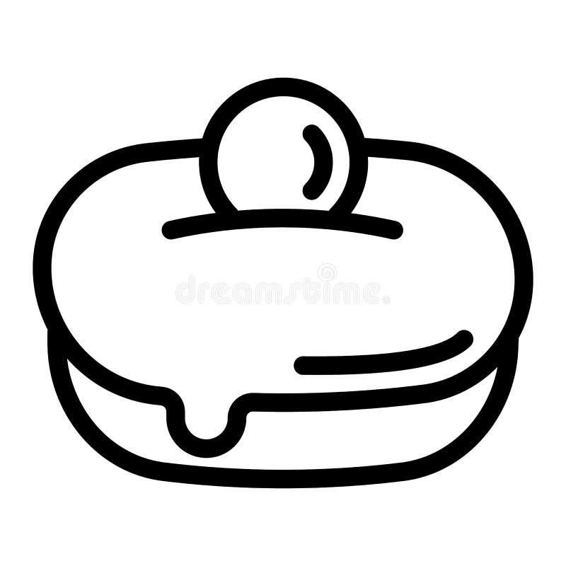 Icône douce juive de boulangerie, style d'ensemble illustration de vecteur
