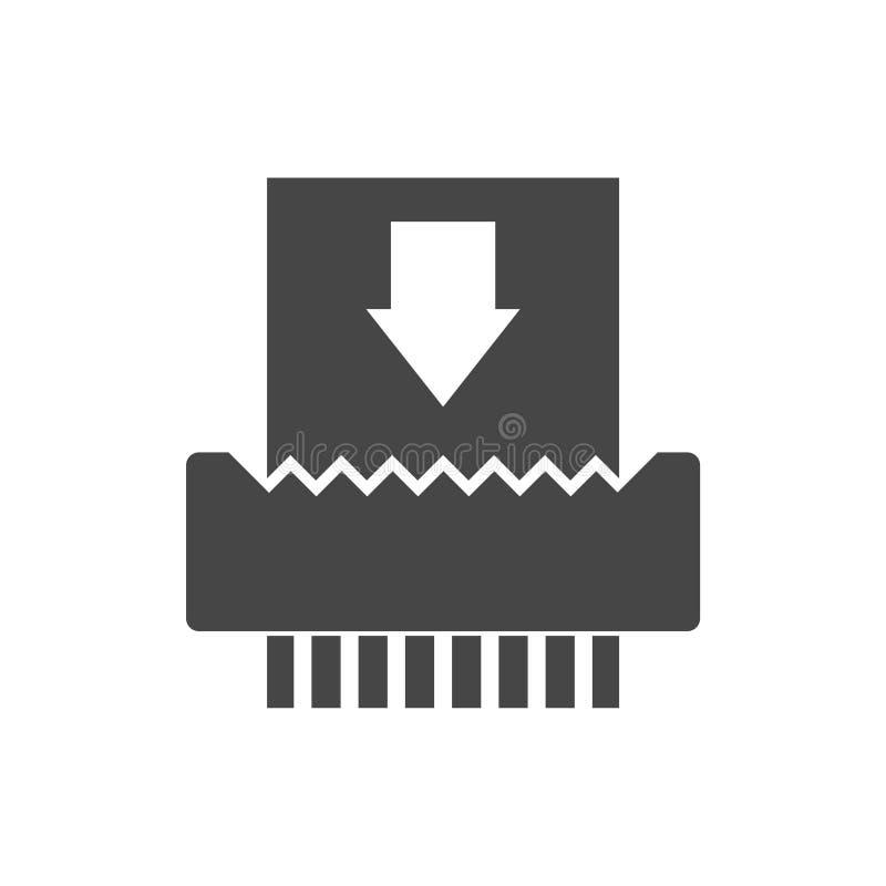 Icône du destructeur de papier illustration stock