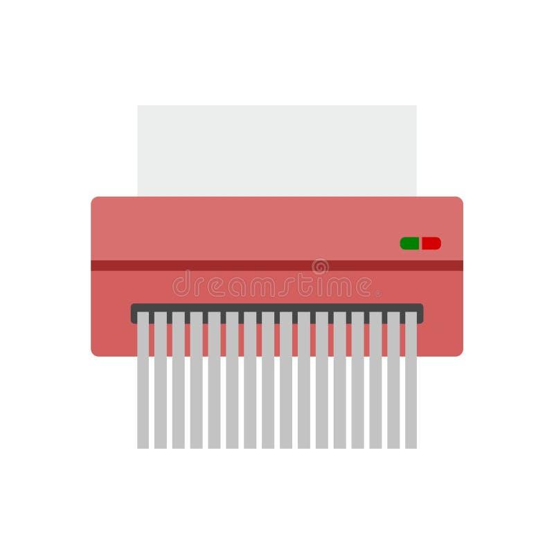 Icône du destructeur de papier, style plat illustration libre de droits