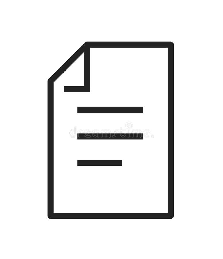 Icône du document libre Liste de contrôle, dossier, document Vecteur de concept d'écritures illustration stock