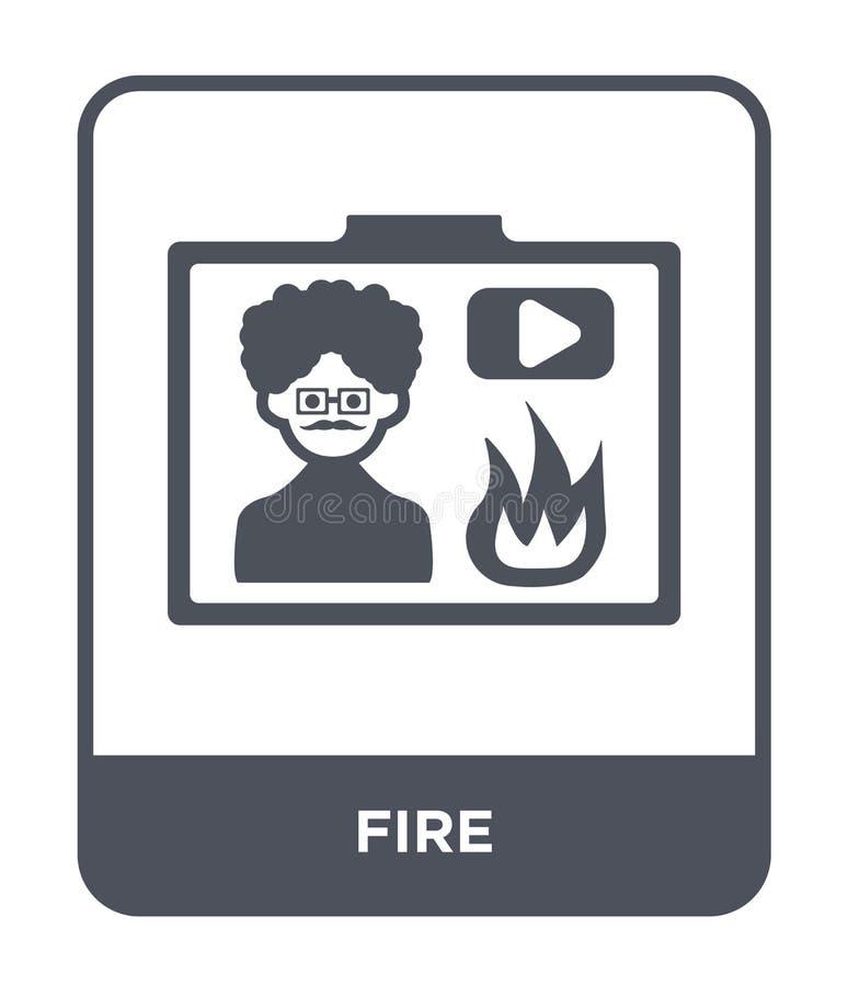 icône du feu dans le style à la mode de conception Icône du feu d'isolement sur le fond blanc symbole plat simple et moderne d'ic illustration libre de droits