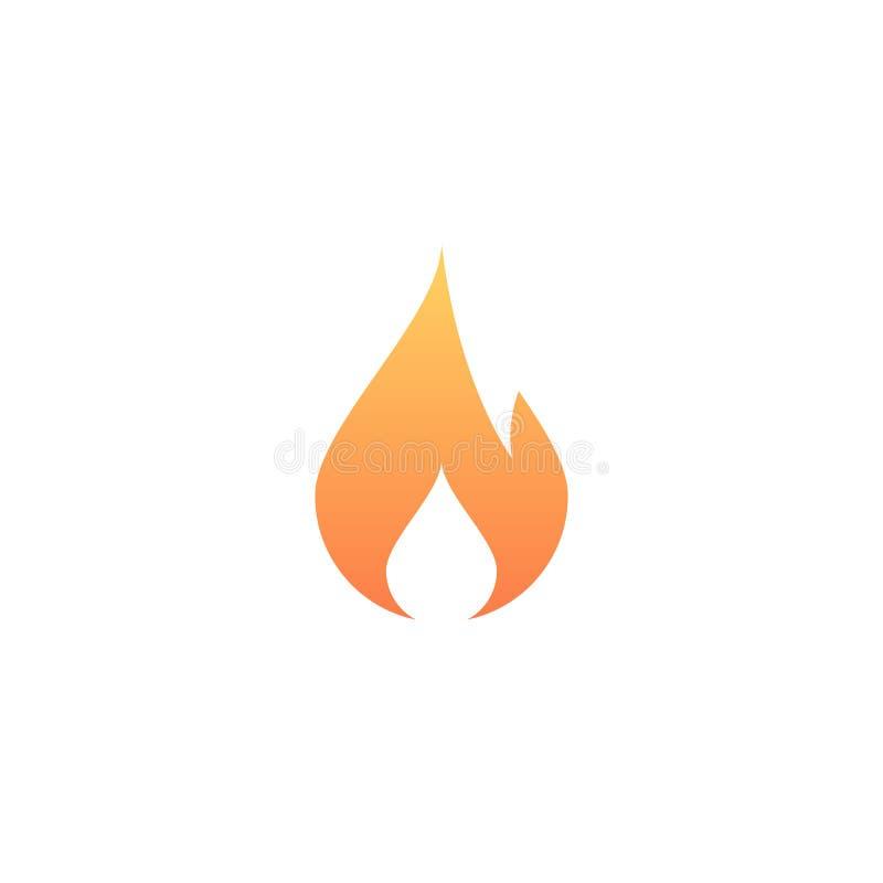 Icône du feu forme du feu Graphisme de vecteur Symbole de flamme Signe de brûlure Bouton de tendance Élément pour l'appli ou le s illustration libre de droits