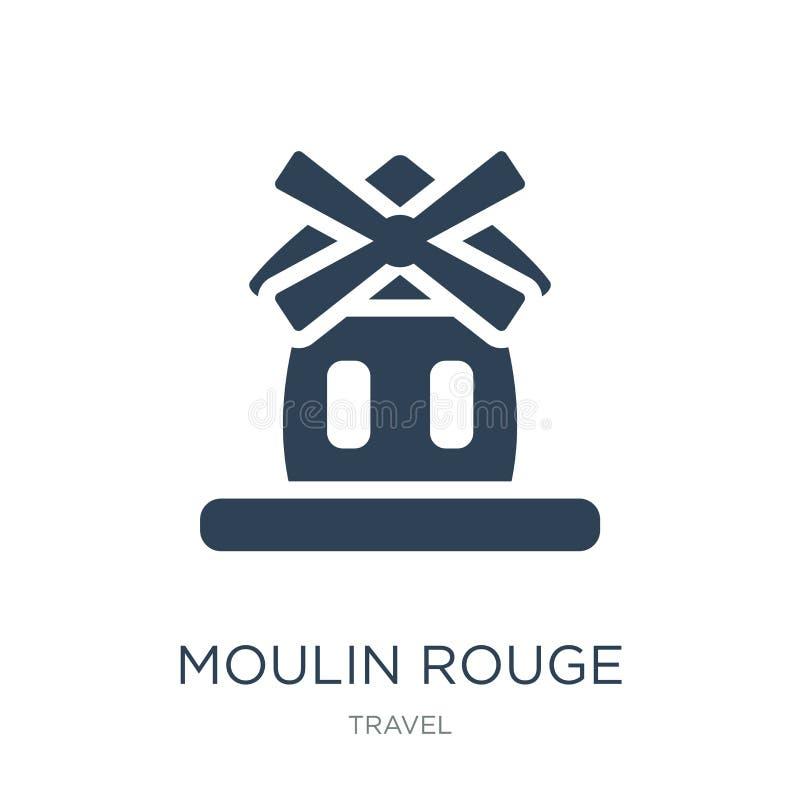 icône du Moulin rouge dans le style à la mode de conception icône du Moulin rouge d'isolement sur le fond blanc icône de vecteur  illustration de vecteur