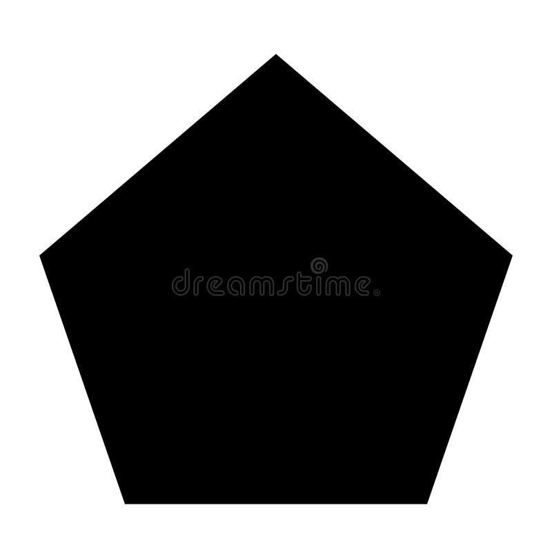 Icône du Pentagone de la géométrie de vecteur illustration libre de droits