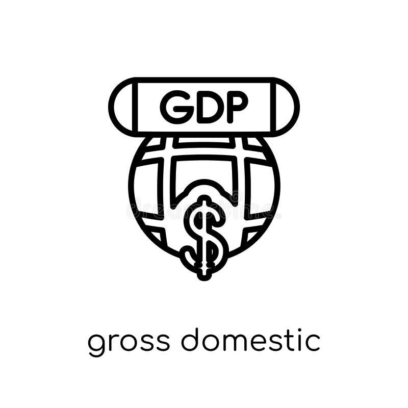 Icône du produit intérieur brut (PIB)  illustration de vecteur