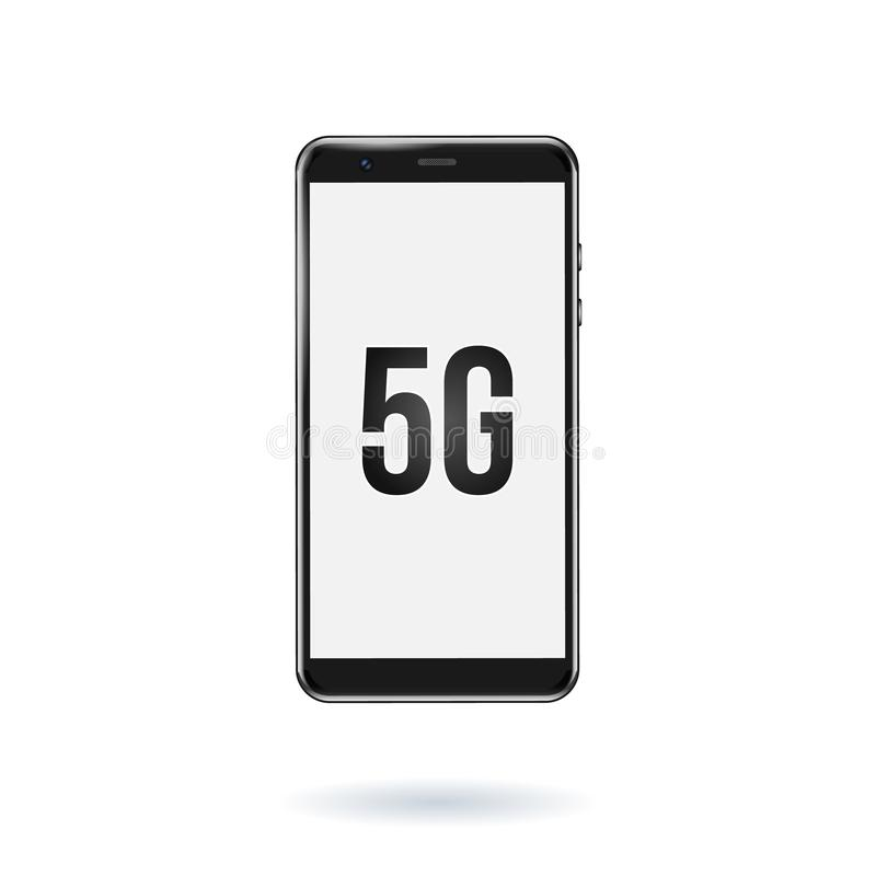 ic?ne du r?seau 5G dans un smartphone nouvelle connexion sans fil de wifi de l'Internet 5G Illustration de vecteur illustration libre de droits